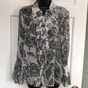 Sheer blouse by CAbi